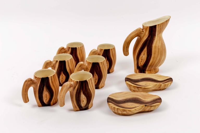 Set of Faux Bois Ceramics 3