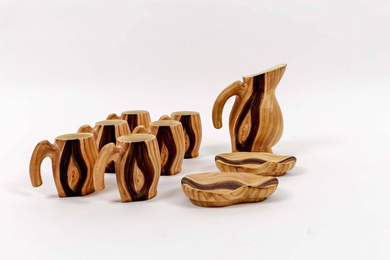 Set of Faux Bois Ceramics 4