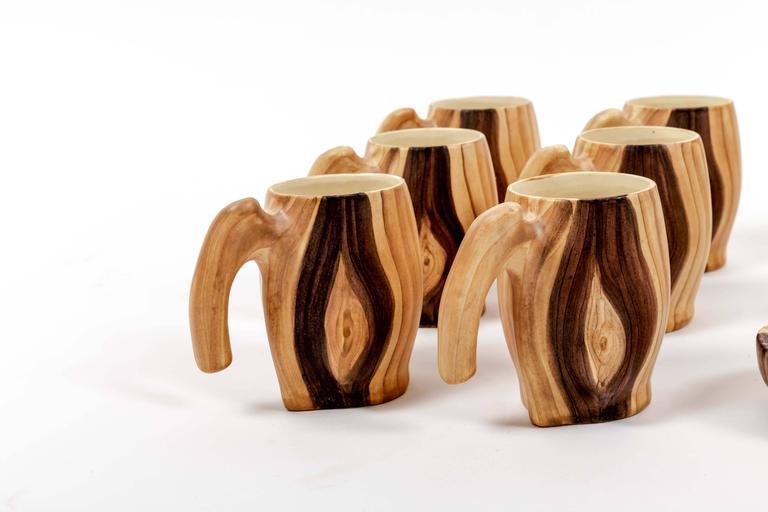 Set of Faux Bois Ceramics 5