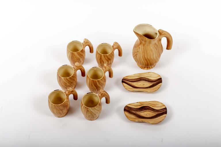 Set of Faux Bois Ceramics 8