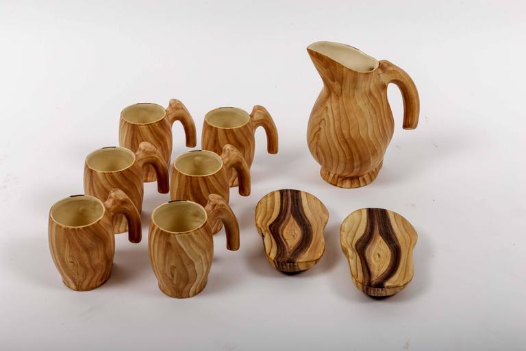 Set of Faux Bois Ceramics 9