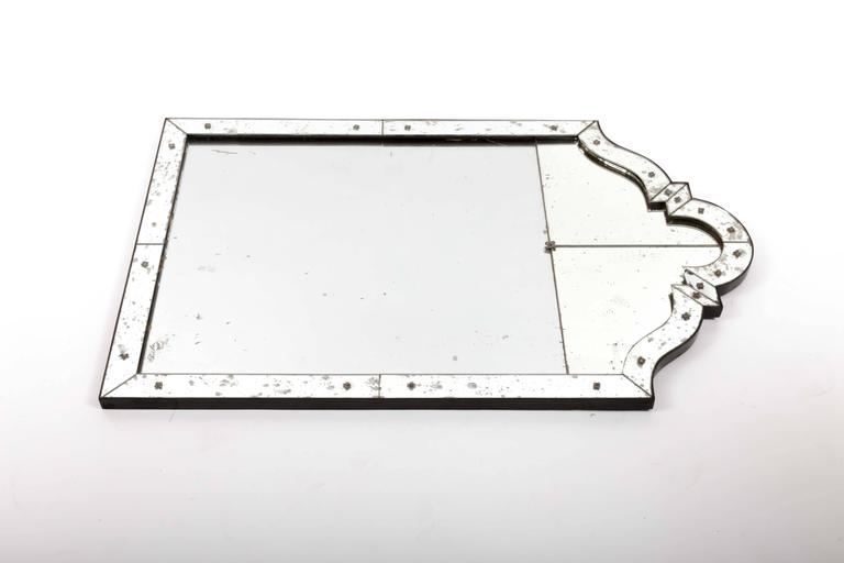 Art Deco Mirror with Antiqued Glass 3