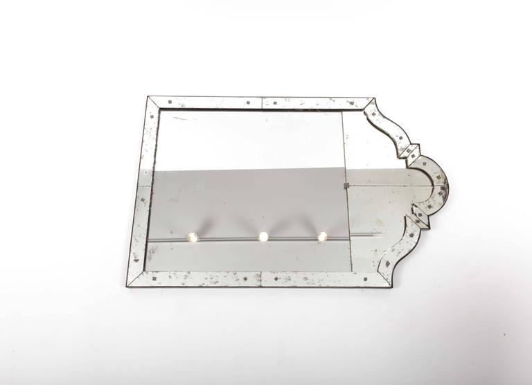 Art Deco Mirror with Antiqued Glass 4