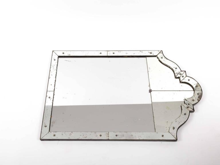 Art Deco Mirror with Antiqued Glass 5
