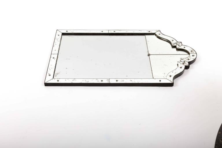 Art Deco Mirror with Antiqued Glass 7