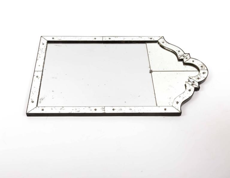 Art Deco Mirror with Antiqued Glass 8