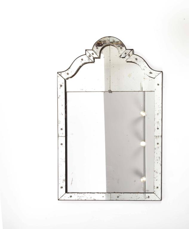 Art Deco Mirror with Antiqued Glass 9