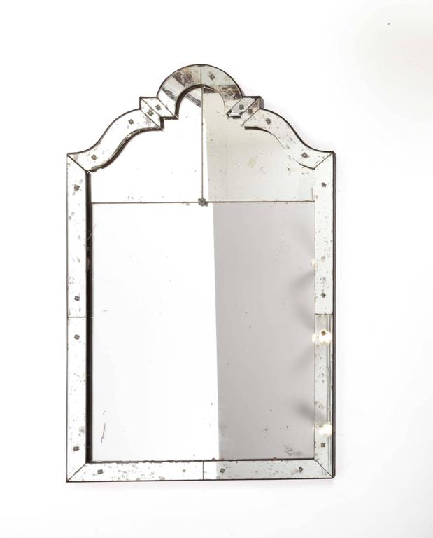 Art Deco Mirror with Antiqued Glass 10