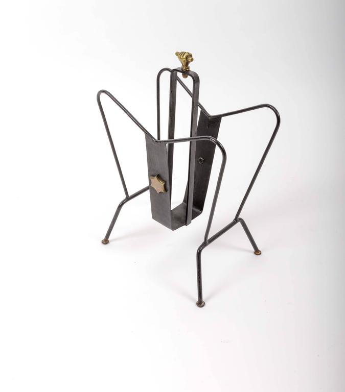 Magazine Stand by Jacques Adnet 2