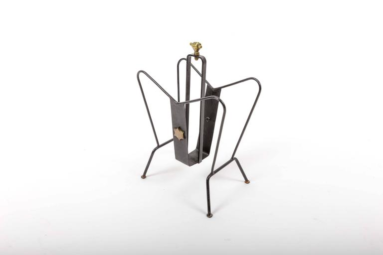 Magazine Stand by Jacques Adnet 3