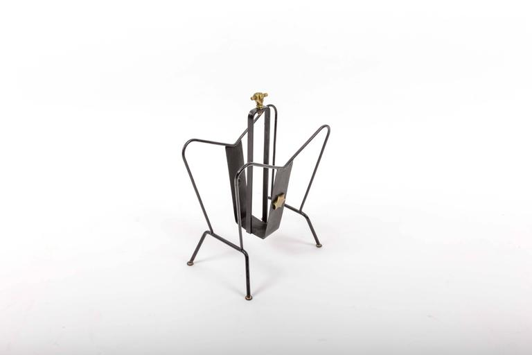 Magazine Stand by Jacques Adnet 4