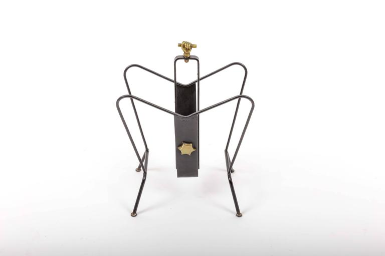 Magazine Stand by Jacques Adnet 5