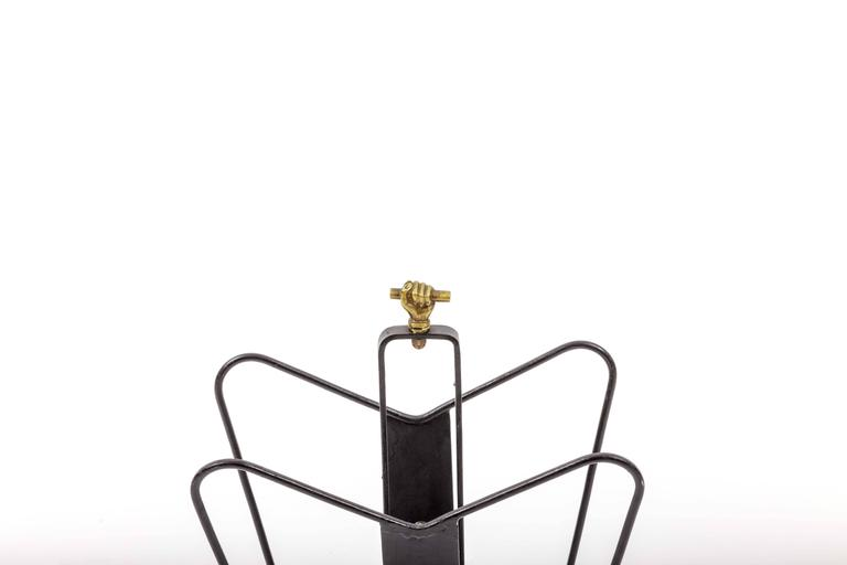 Magazine Stand by Jacques Adnet 6