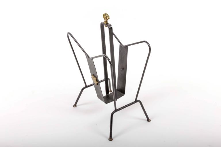 Magazine Stand by Jacques Adnet 7