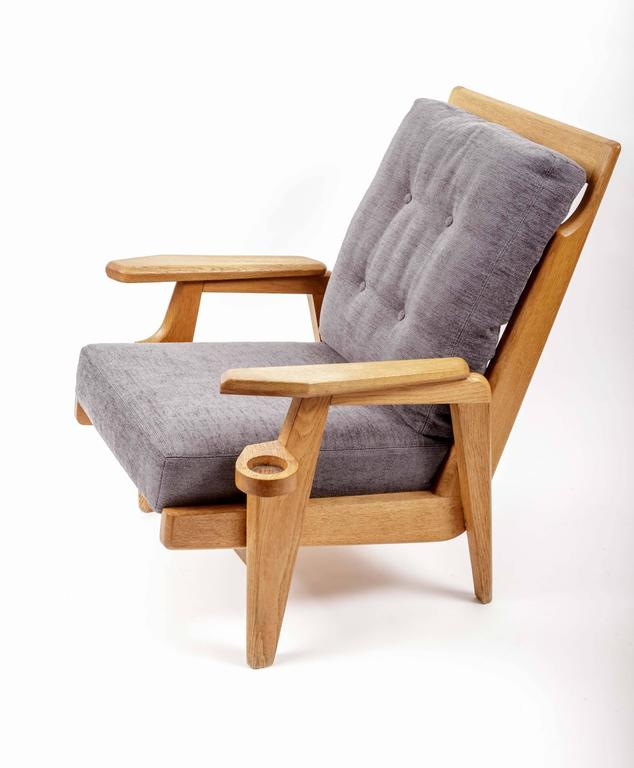 Pair of Wooden Armchairs by Guillerme et Chambron 4