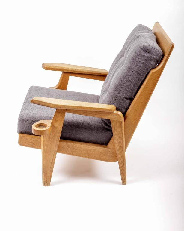Pair of Wooden Armchairs by Guillerme et Chambron 6