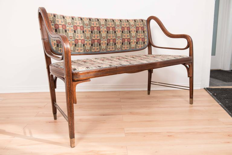 otto wagner bench for j j kohn for sale at 1stdibs. Black Bedroom Furniture Sets. Home Design Ideas