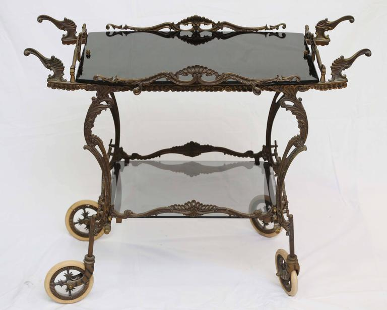 Bronze Barcart, Daliesque, Aesthetic Movement, Russia, Middle East, Spain In Excellent Condition For Sale In Miami, Miami Design District, FL