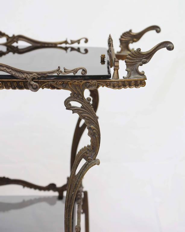 Early 20th Century Bronze Barcart, Daliesque, Aesthetic Movement, Russia, Middle East, Spain For Sale