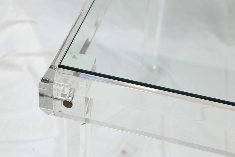 Lucite card table wonderful