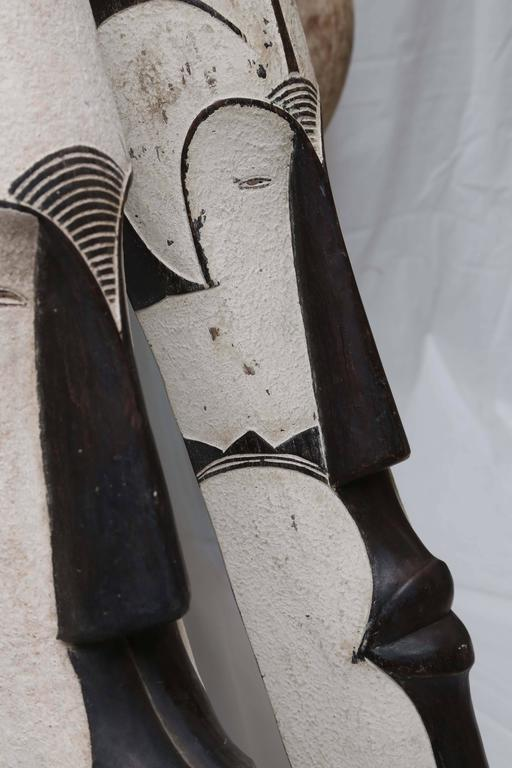 Contemporary African, Abstract Fang Masks, Cameroon, Gabon,  SOLD INDIVIDUALLY ALSO For Sale