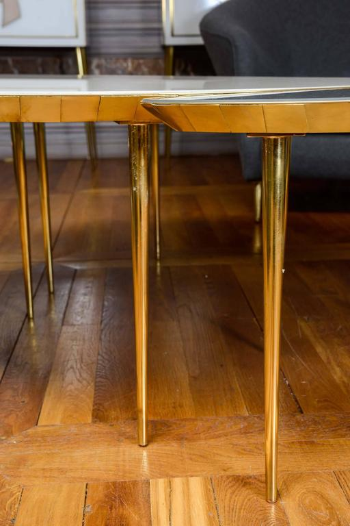 Set of Three Mirror Top Tables For Sale 2