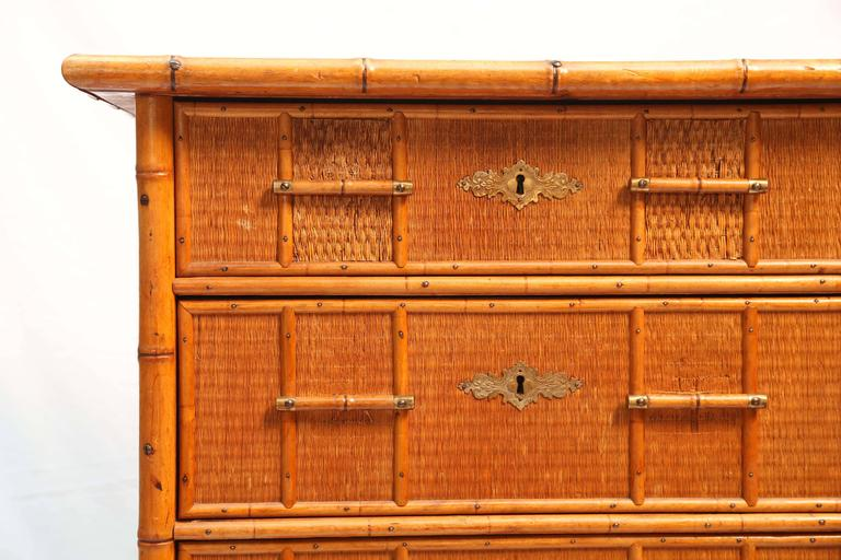 Superb Edwardian Bamboo Chest of Drawers 4