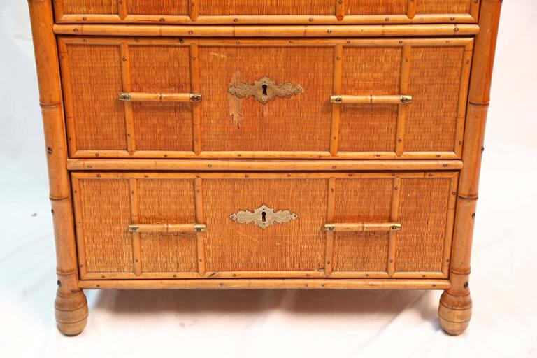 Superb Edwardian Bamboo Chest of Drawers 5