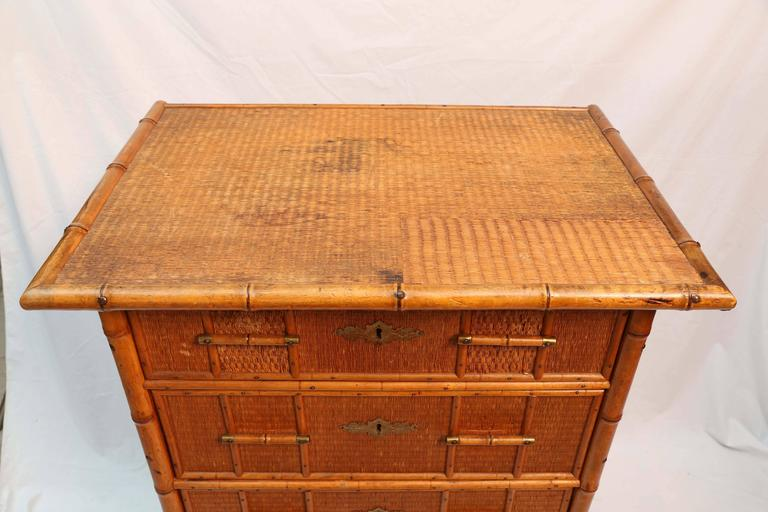 Superb Edwardian Bamboo Chest of Drawers 6