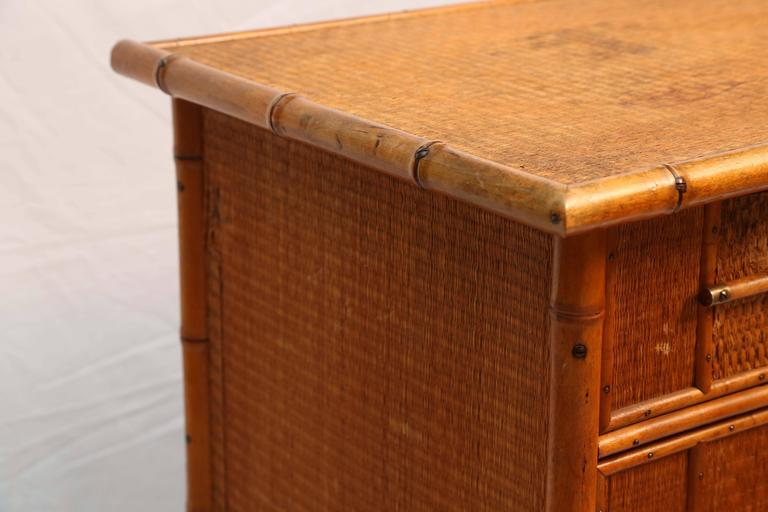 Superb Edwardian Bamboo Chest of Drawers 7