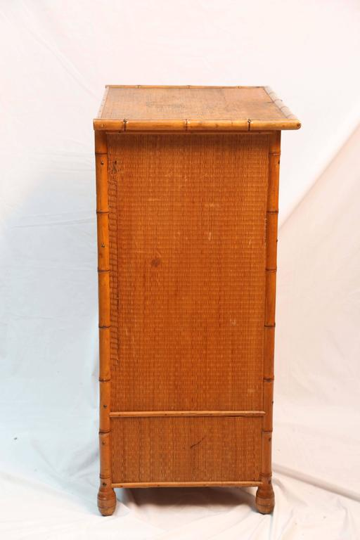 Superb Edwardian Bamboo Chest of Drawers 8