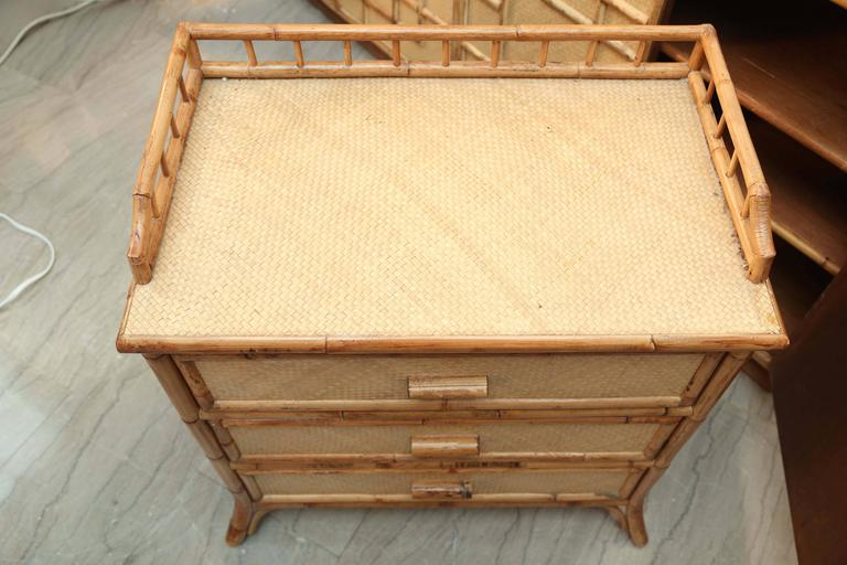 Mid-Century Pair of Rattan  End Tables /Night Stands 10