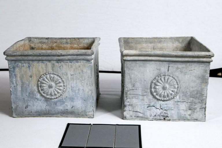 Pair Of Antique English Lead Planters Circa 1900 At 1stdibs