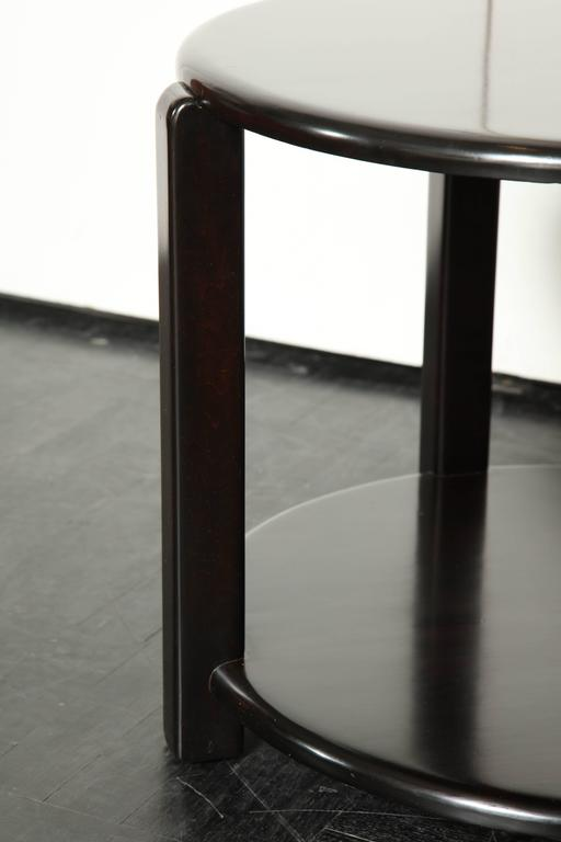 Mid-20th Century Two-Tier Ebonized Walnut Circular Table In Good Condition For Sale In New York, NY