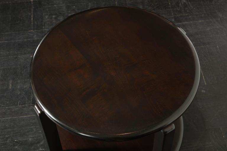 Mid-20th Century Two-Tier Ebonized Walnut Circular Table For Sale 1