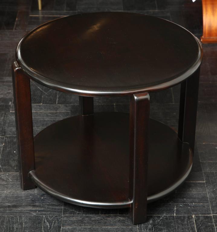Mid-20th Century Two-Tier Ebonized Walnut Circular Table For Sale 2