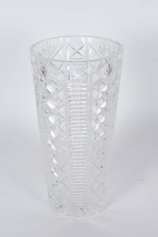 Waterford Crystal Clare Pattern Vase At 1stdibs