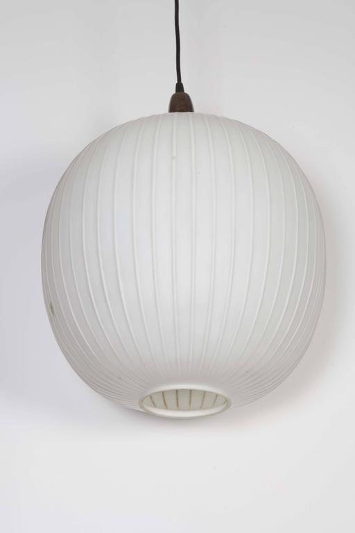 italian 1950s frosted glass pendant light at 1stdibs