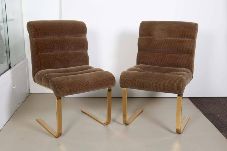 a435784137 A set of six 'Lugano' dining chairs by designer Frank Mariani, manufactured  by