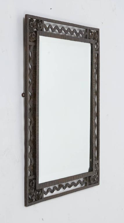 Wrought iron mirrors for sale at 1stdibs for Wrought iron mirror
