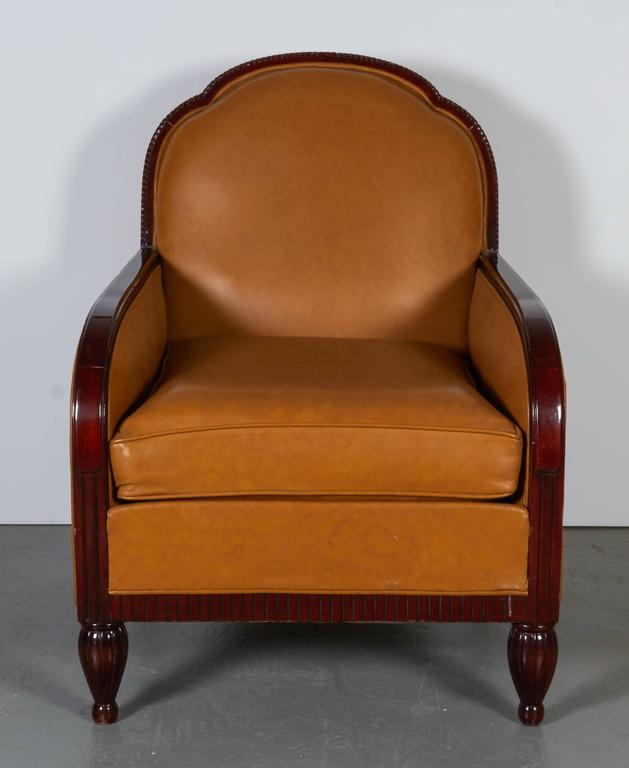 Lacquered French Art Deco Armchairs For Sale