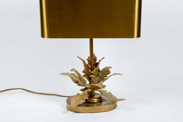 Mid-Century Modern Elegant Small Bronze Table Lamp For Sale