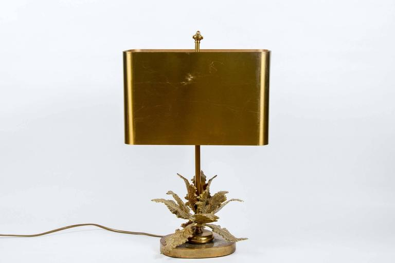 French Elegant Small Bronze Table Lamp For Sale