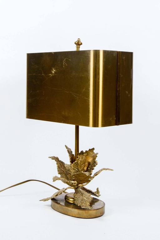 Elegant Small Bronze Table Lamp For Sale At 1stdibs