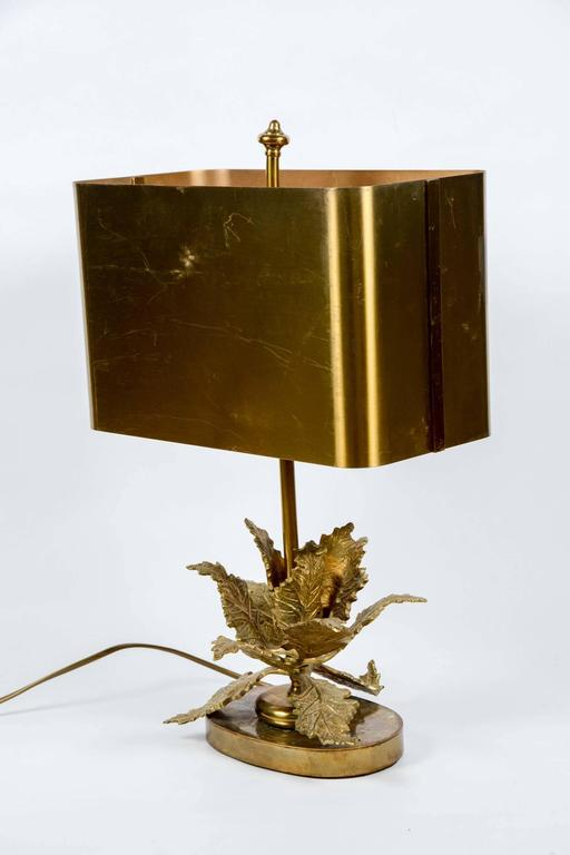 Elegant Small Bronze Table Lamp For Sale 1