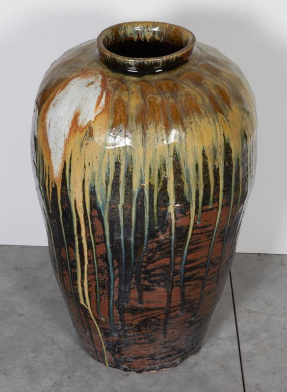 Tall Antique Ceramic Wine Jar For Sale 1