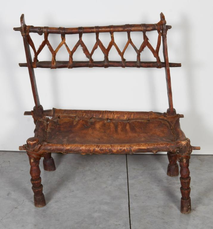 Strange Rustic Antique Wood And Leather Bench With Great Patina And Character Gmtry Best Dining Table And Chair Ideas Images Gmtryco