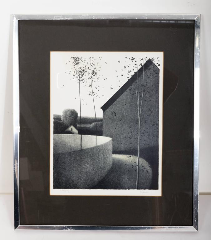 Signed Robert Kipniss original lithograph, offered by Funky Finders In Fair Condition For Sale In Southampton, NY