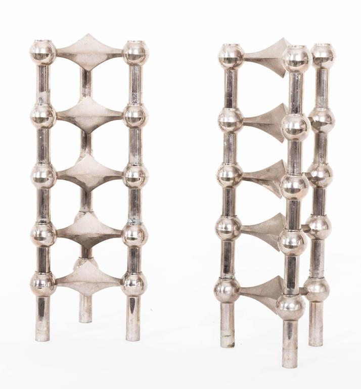 Mid-Century Metal Candleholders by Funky Finders For Sale 4