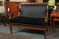 Egyptian Empire style Settee Sofa